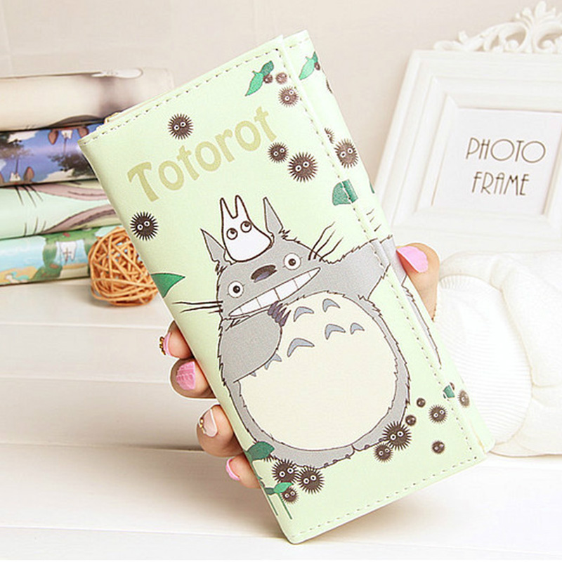 DUDINI Fashion Totoro Women PU Leather Wallets Cute Cartoon Design Momey Purse Ladies Simple Card Holder Coin Pocket Bag hot game poke go wallets cute cartoon pocket monster wallets billeterafor teenager boy girls leather money bag purse