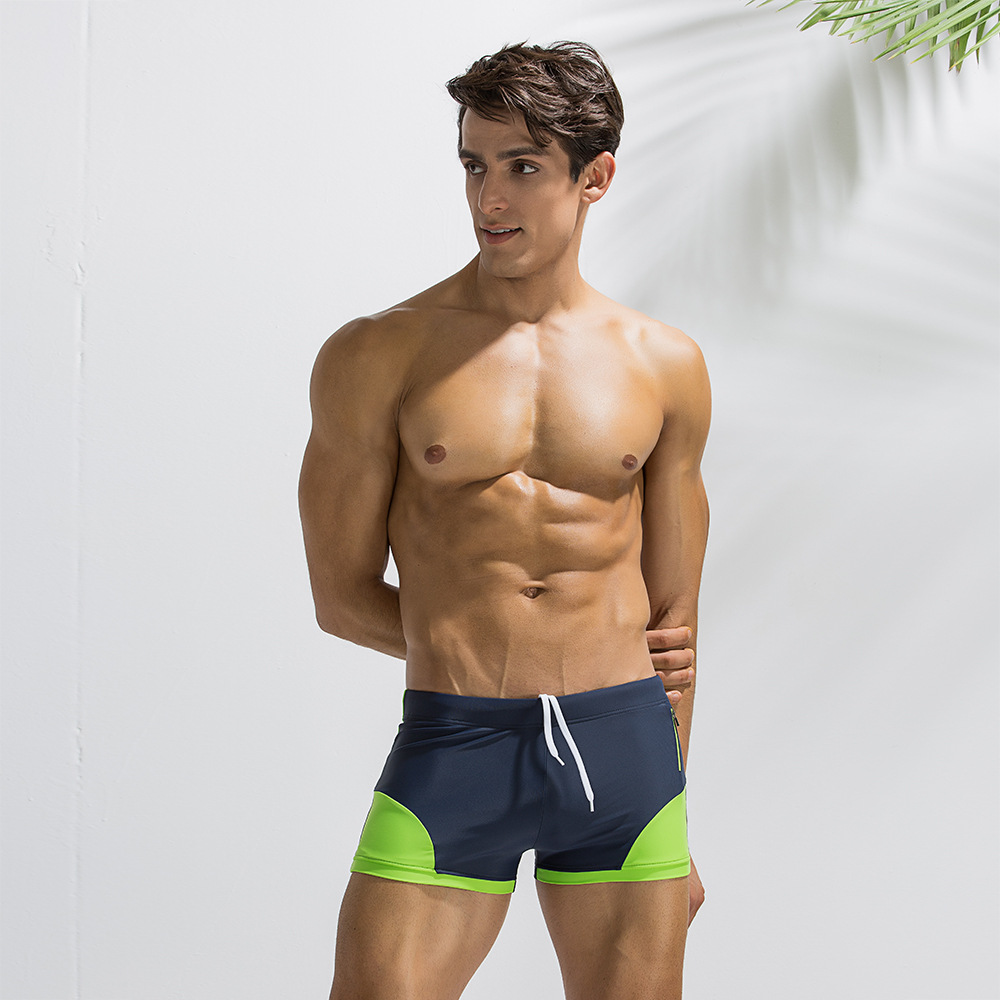 New Quick Dry Mens Swim Boxer Shorts Summer Mens Board Shorts Surf Swimwear Beach Short Male Athletic Fitness Short Man