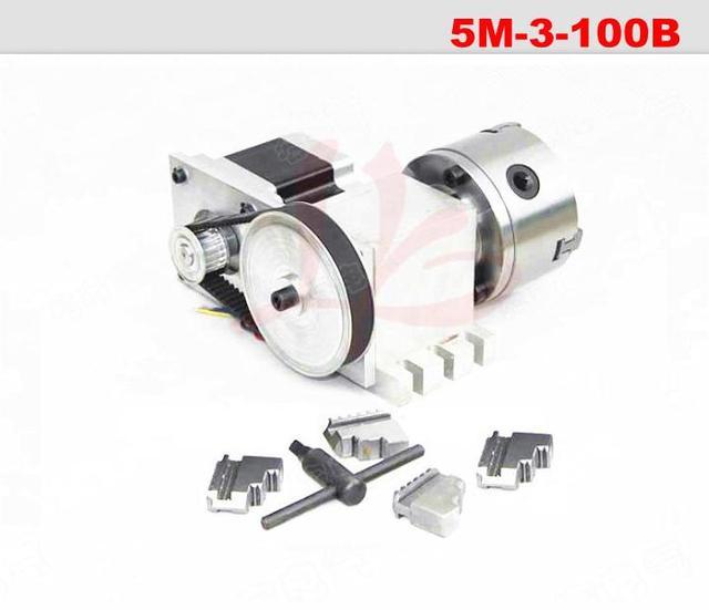 CNC fresadora CNC eje de rotación cuarto eje con chuck para cnc ...