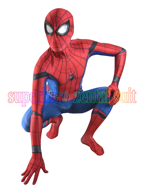 2018 neue spiderman kost m 3d printe halloween cosplay. Black Bedroom Furniture Sets. Home Design Ideas