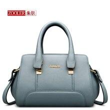 ZOOLER 2016 Genuine leather Bag Ladies Luxury woman bags top handle handbags Solid high end quality bag bolsa feminina #YL-3669