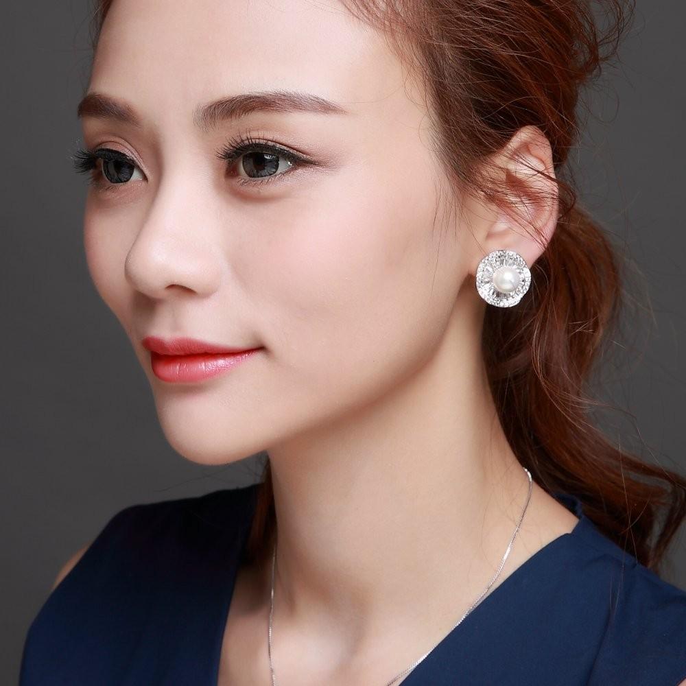 Rose flower Wedding earrings