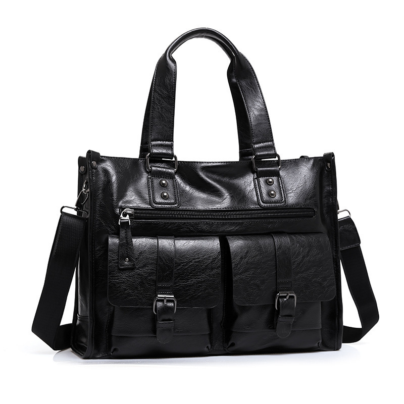 Vintage luxury brand Men bag Messenger Bags High Quality Soft Genuine Leather Solid Hand Bags Large Capacity Travel Bags Vintage luxury brand Men bag Messenger Bags High Quality Soft Genuine Leather Solid Hand Bags Large Capacity Travel Bags