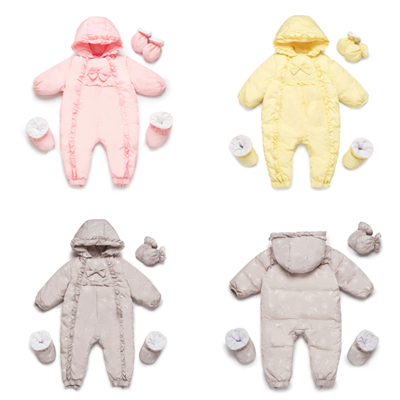 01c329faddc1 Aliexpress.com   Buy Baby Snowsuit Newborn Snow Wear Coverall Infant ...