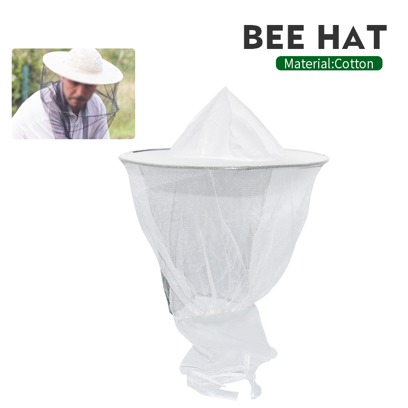 Brand Plastic Steel Single Ring  Bee Hat Bee Keeping Suitable For Vail Hat Mesh Hat Insects Mosquito Preventio Beekeeping Hat