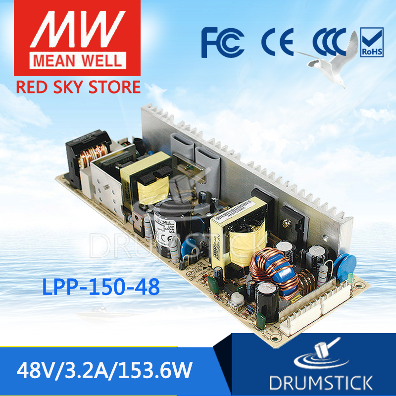 Advantages MEAN WELL LPP-150-48 48V 3.2A meanwell LPP-150 48V 153.6W Single Output with PFC Function best selling mean well epp 150 48 48v 2 1a meanwell epp 150 48v 100 8w single output with pfc function [hot6]