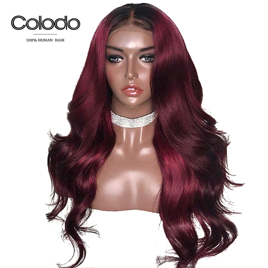 COLODO Glueless Wavy Wig 13x4 Remy Brazilian Lace Front Human Hair Wigs With Baby Hair Preplucked