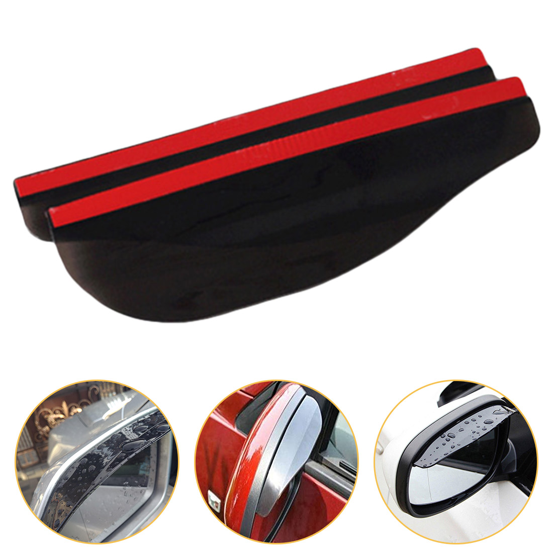 2pcs Flexible Car Rear View Side Mirror Anti Rain Visor Snow Guard Weather Shield Sun Shade Cover Rearview Suv Auto Accessories(China)