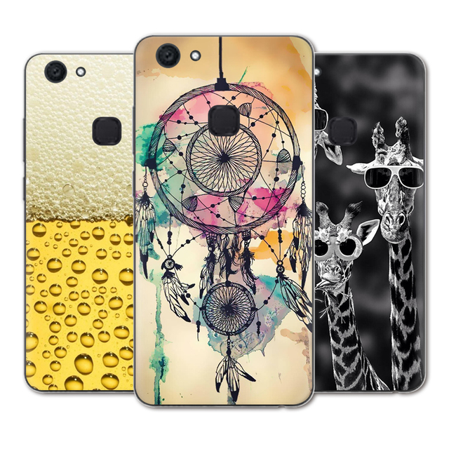 best service 8a826 e5852 US $0.99 20% OFF New Arrival Phone Case For Vivo V7 + Plus / Vivo Y79 5.99  inch Fashion Design Art Painted TPU Soft Case-in Fitted Cases from ...