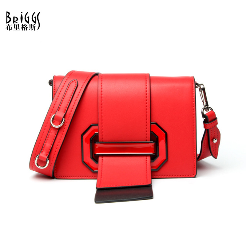 BRIGGS Brand Candy Color Shoulder Bags Fashion Flap Bag Designer Handbags High Quality Genuine Leather Messenger Bags For Women стоимость