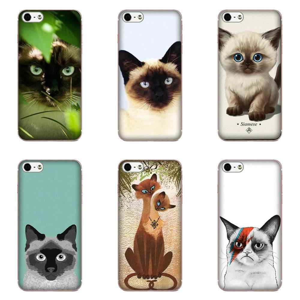 Siamese Cat For Galaxy Grand Alpha G850 Core2 Prime S2 I9082 A3 A5 A7 On5 On7 2015 2016 2017 Soft TPU Printing