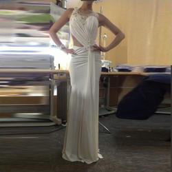 Очаровательная Vestidos пункт феста русалка длиной до пола вечернее платье бисероплетение видеть сквозь рукавов о шеи вечерние платья
