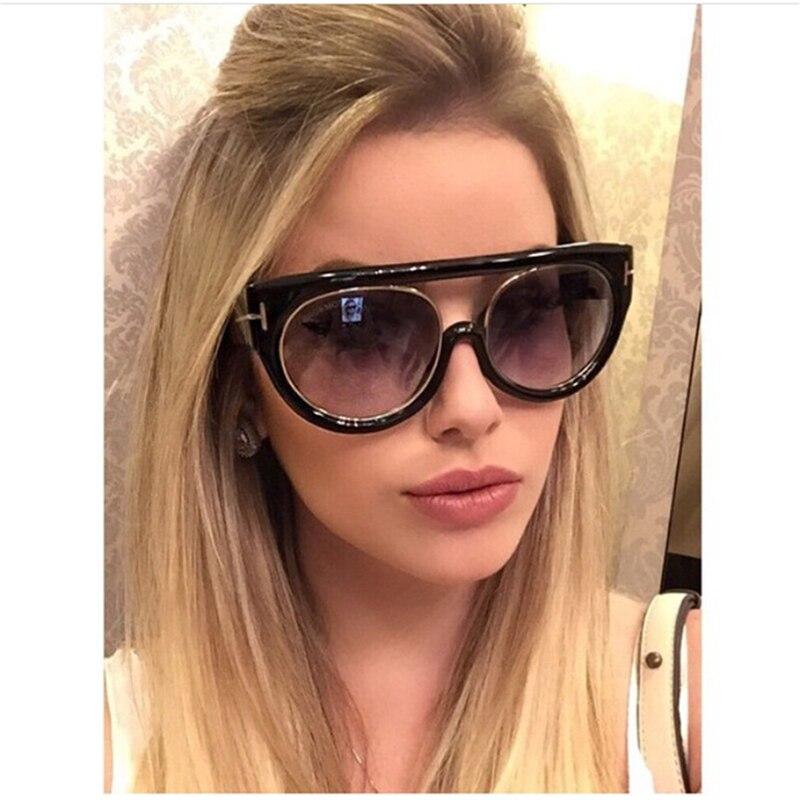 Luxusní vysoce kvalitní módní ploché top sluneční brýle ženy značky Designer 2017 Vintage Velké odstíny Retro sluneční brýle 997260Y