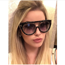 Luxury High Quality Fashion Flat Top Sunglasses Women