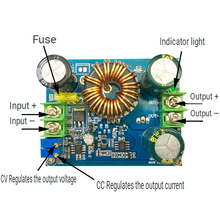 цена на DC-DC 600W Boost Step Up Module Power Supply Constant Current Constant Voltage 9-60V to 12-80V 48V 56V 60V 72V