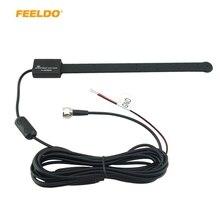 FEELDO 1 комплект водонепроницаемая гибкая Автомобильная активная F разъем цифровая DVB-T Автомобильная теле-антенна с усилителем# FD-883
