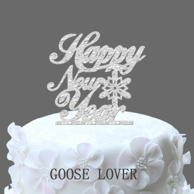 Happy New Year Cake Topper , Christmas Funny Cake Topper ...