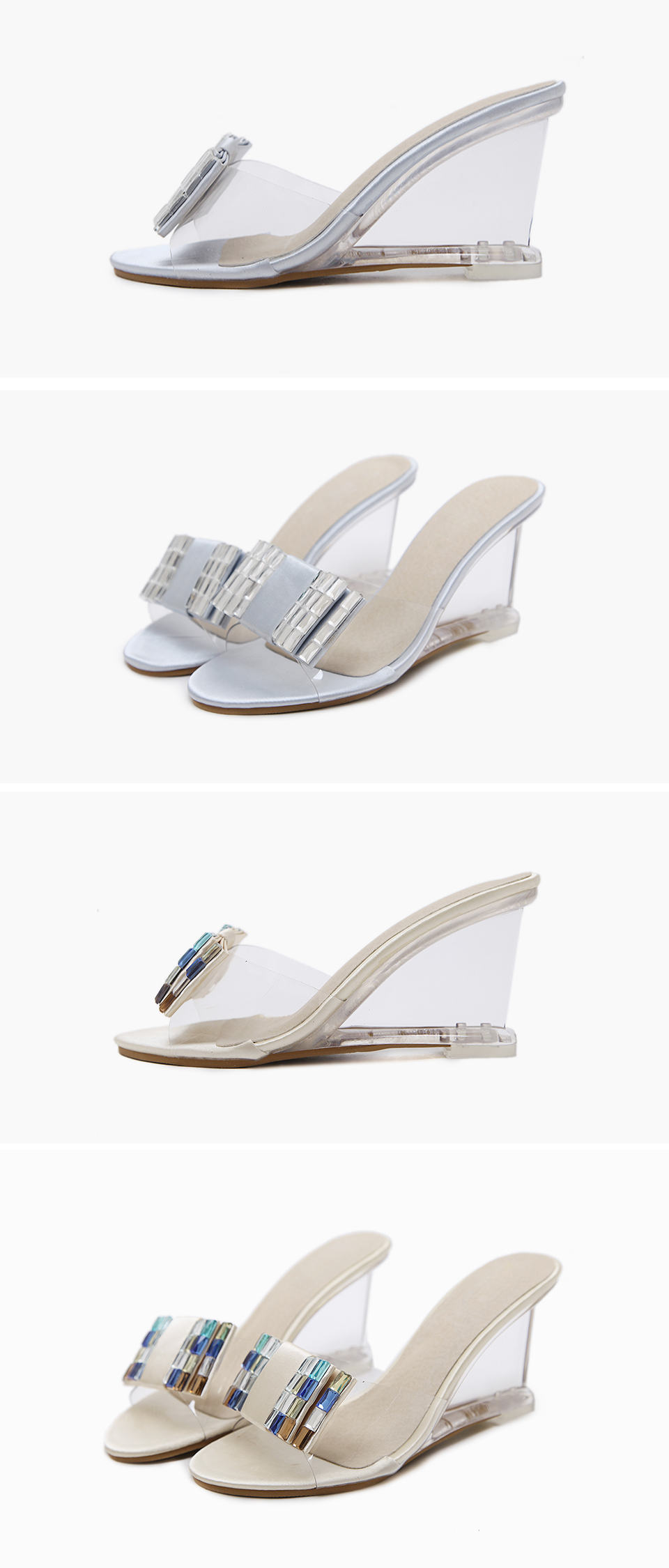 4 wedges shoes