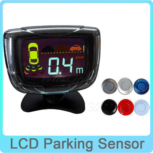 4 Sensors 22mm Buzzer LCD Parking Sensor Kit Display Car Reverse Backup Radar Monitor System 12V 6 Colors Parking Assist