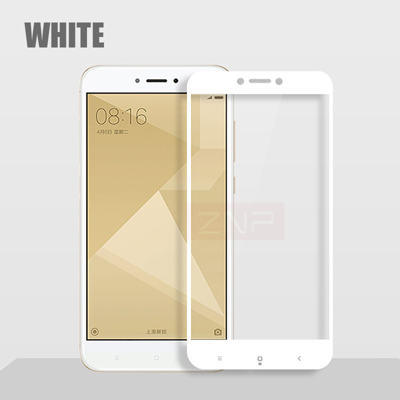 ZNP Full Screen Protective Tempered Glass For Xiaomi Redmi Note 4X Redmi 4X 9H Protector Film For Redmi Note 4X glass Full cover