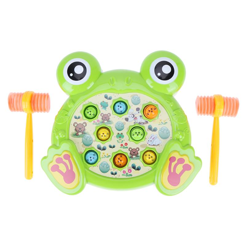 Baby Toys Electric Play Hamster Music Toys Hammer Children Family Games Frog Hamster Toys Gift for Children Early Education
