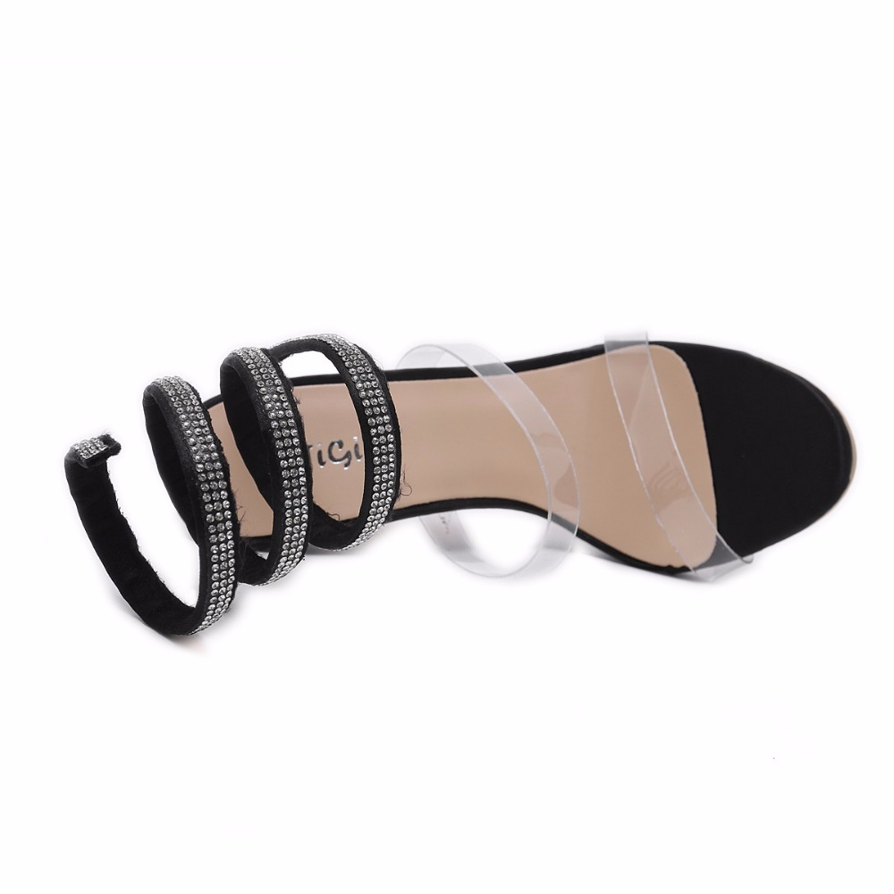 fashion sapatos de salto alto Sandals woman party shoes hot selling fashion thin high heels 12 cm Sweet Naked