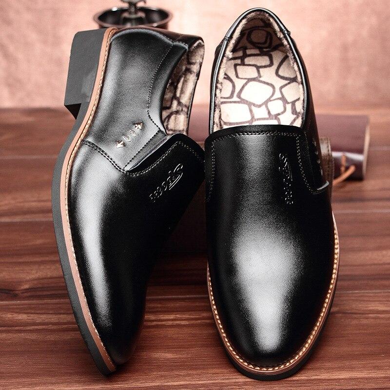 En black Fur Primavera Formal Calidad brown De Black Fur With Cuero 2018 Nuevo Verano No Hombre Artificial Zapatos Deslizamiento Negro Mocasines Oficina Fur Hombres zH7pqxn