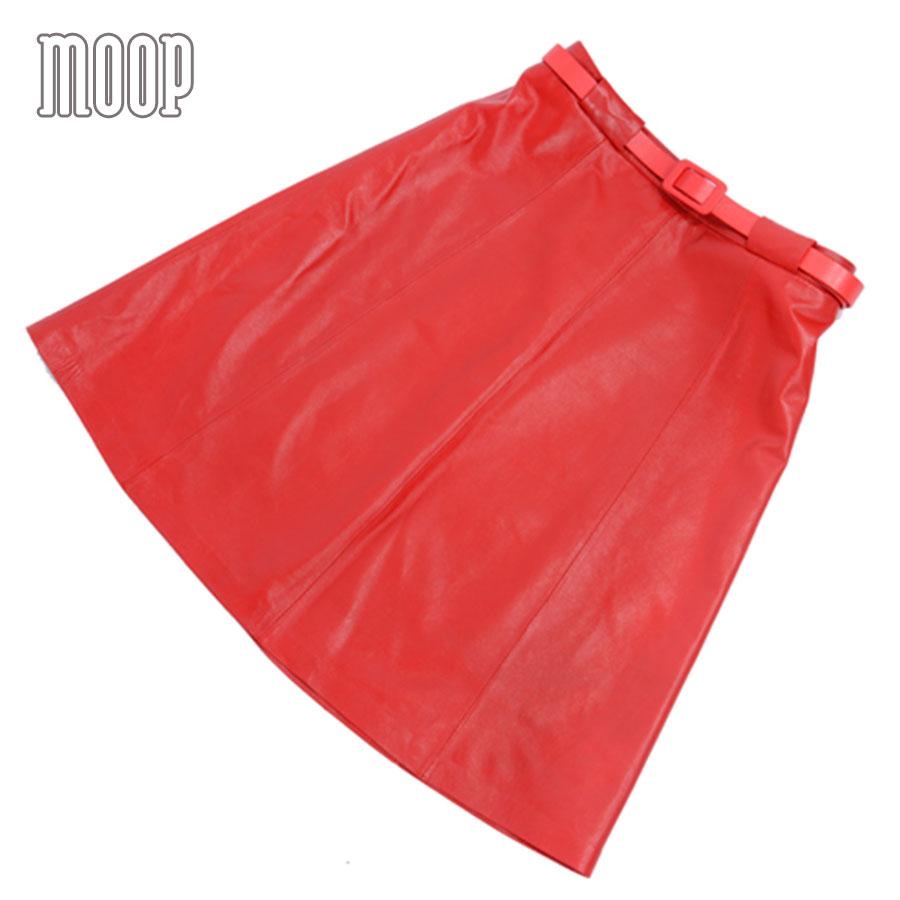 Cuir Agneau Jupes Rouge 100 Femmes Lt565 Livraison Faldas Largas Etek Saia Pic Red En A Jupe Coupe Bas As Véritable Gratuite xBBO4wtE