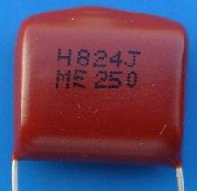 Entrega gratuita. Película de poliéster metalizada capacitor 250 v tipo CL21 824 j 0.82 uF