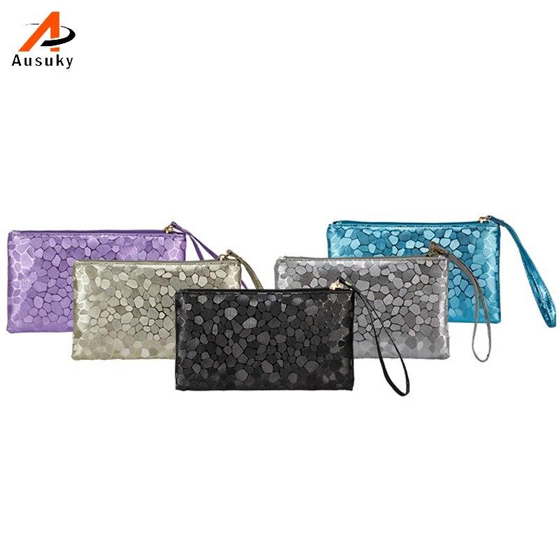 Ausuky 2016 fashion women 39 s clutch handbags purses pu for Tile fashion 2016