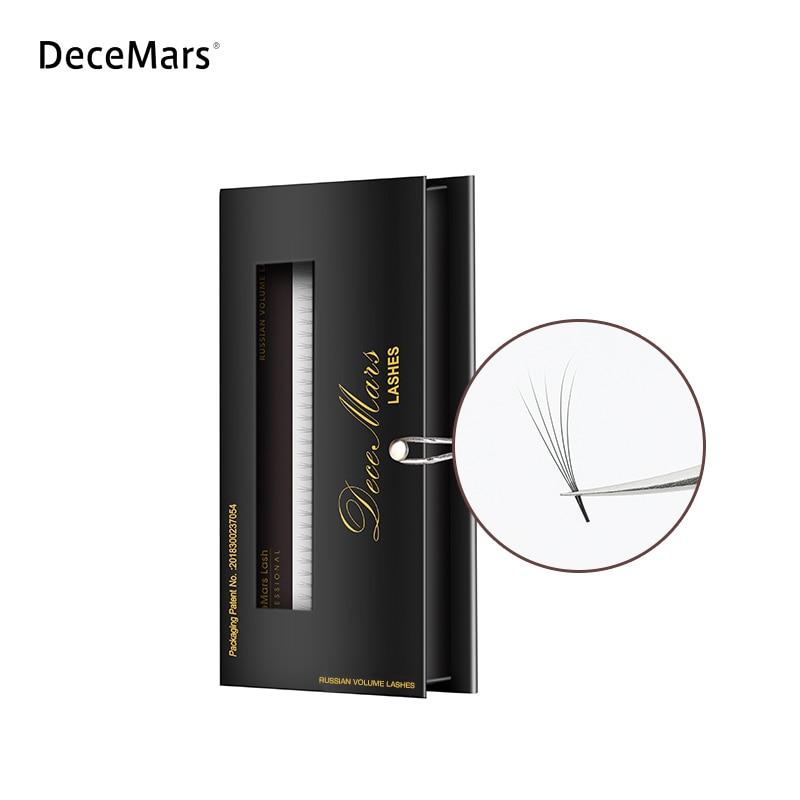 DeceMars Eyelash Extensions Russian Volume 3D 4D 5D 6D 10D Pre-Fans, 0.07, C Curl Eyelash Extension Single Length