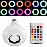 Smart Home LED Lamp Bulb B22 12W Color Changing RGB Wireless Bluetooth Speaker Music Play LED