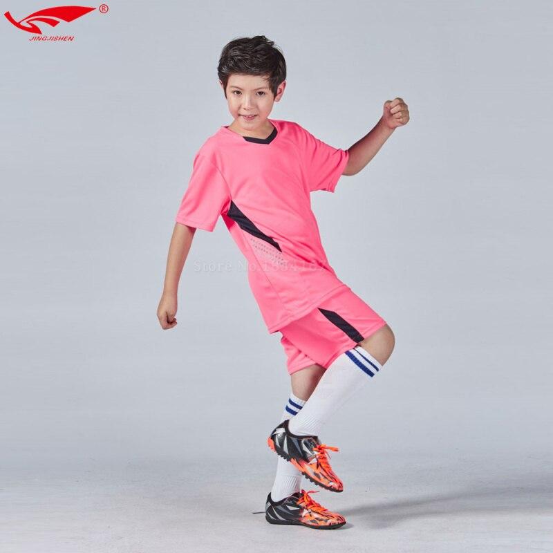 Prix pour Haute qualité maillots de football de l'enfant 2016 2017 enfants football set garçons personnalisé football jersey uniformes enfants jeunes nouveau