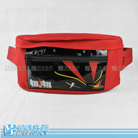 Hot Selling Double Young Girl Red Casual Waist Pack Chest Mobile Phone Key Storage Small Waist