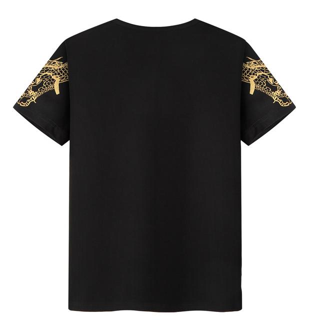 Men's Summer Shirts and Shorts Fashion Men's Sets Casual Plus Size 8xl 9xl Printed Dragon Male Sweatshirt Brand Hip Hop Clothing