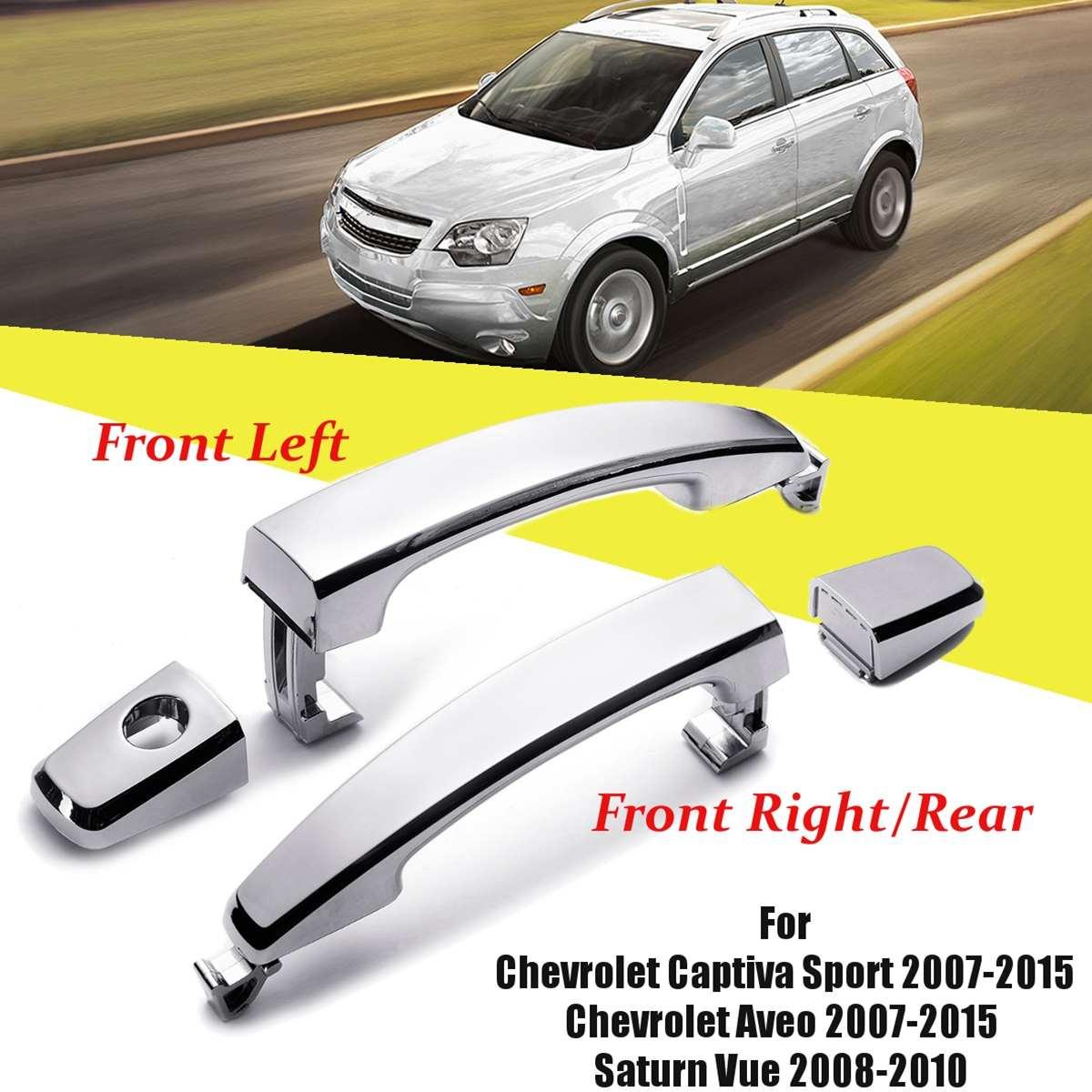 Sizver Chrome Door Handle Covers For 2007-2010 Saturn Outlook