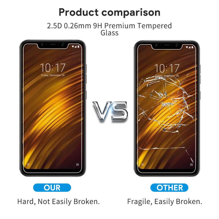 Tempered Glass untuk Xiaomi Pocophone F1 Kaca Tempered Pocophone untuk Xiaomi A2 Mi 8 8SE Poco F1 Global Versi Layar pelindung
