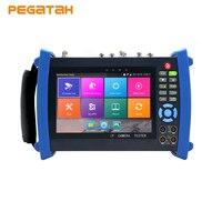 H.265 4K AHD TVI SDI CVI CVBS IP CCTV Camera tester Monitor with TDR test Cable tracer Multi meter Optical power meter