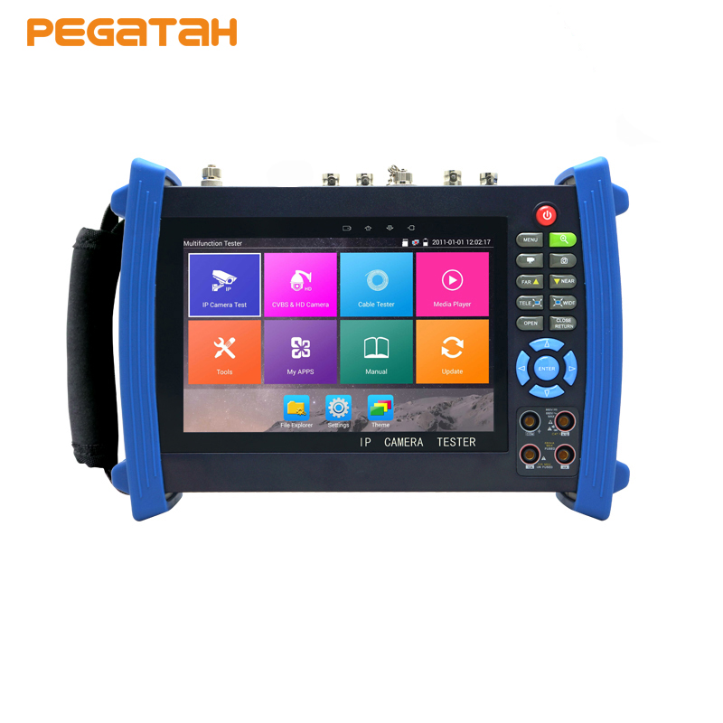 H.265 4K AHD TVI SDI CVI CVBS IP CCTV Camera tester Monitor with TDR test Cable tracer Multi-meter Optical power meter цены