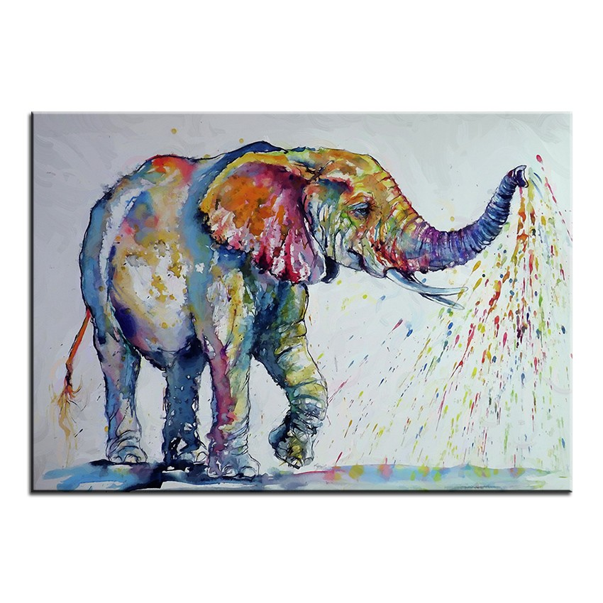 Large Size Printing Oil Painting Nice Elephant Wall Painting Wall