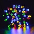 outdoor Lighting String 20.4 M 200 LED Solar Lamps String Christmas Wreaths Wedding Decoration Light  u7112