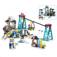 Fit Legoing Friends Snow Resort Ski Lift Gift Club Ski Vacation Skiing with Figure Building Blocks Bricks Toys For Girls friends