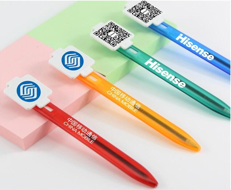500pcs set Stationery manufacturers advertising gift ball pen custom logo custom printed two dimensional code logo