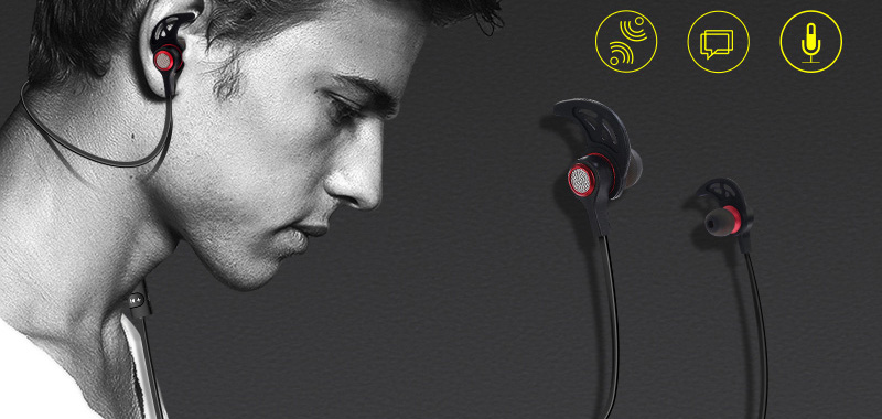 Letike 4.2 Bluetooth Earphones and Headphones Sweatproof Sports Wireless Headset Magnetic attraction Earbuds for Running Gym