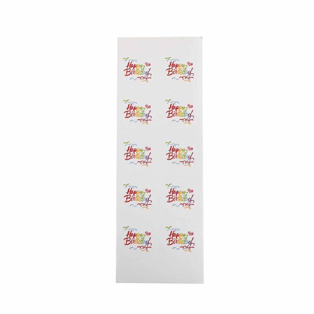 جديد خمر قوس قزح عيد ميلاد سعيد سلسلة تصميم دائري كرافت لواصق الختم لتقوم بها بنفسك متعددة الوظائف حزمة هدية تسميات