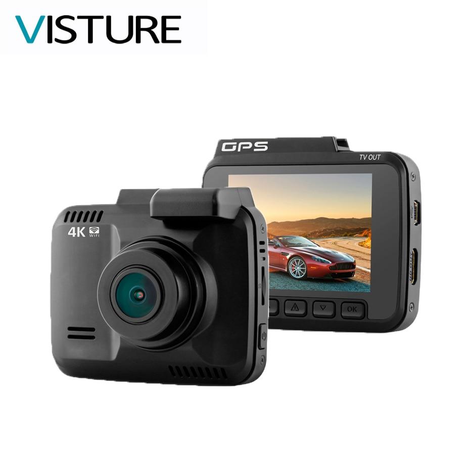 Novatek 96660 Car DVR Recorder Dash Cam 2.4Camera Built in GPS Camcorder 4K 2880x2160P Night Vision WDR GS63H WiFi VISTURE xycing gs63h wifi car dvr novatek 96660 car camera gps tracker 4k ultra hd 2160p night vision dash cam 150 degree angle lens