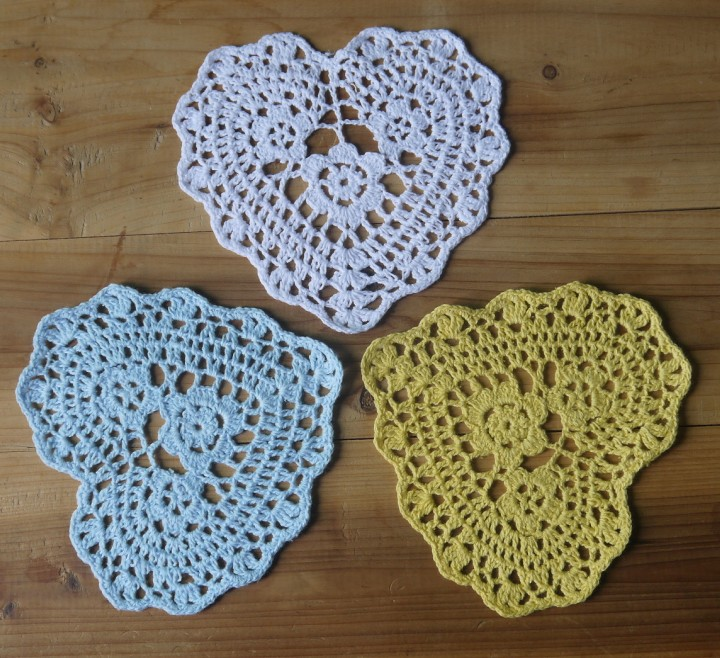 table doilies. Aliexpress.com : Buy Valentine\u0027s Day Gift Crocheted Doilies Placemats Purple Cup Mat Table Cloth Heart Shaped Wedding Decorations 20PCS/LOT From Reliable