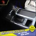 Carro-styling caixa da shift de engrenagem lever Tampa do painel guarnição Decoração Para KIA Caixa de Armazenamento tampa do painel de engrenagem Sorento L 2015 2016 Frente guarnição