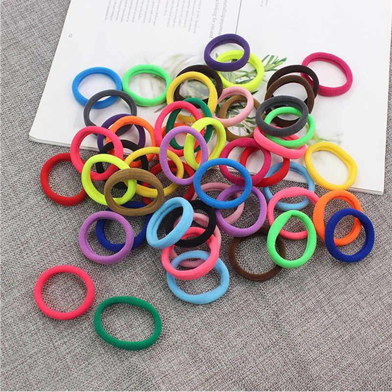 50 ชิ้น/เกาหลีอุปกรณ์เสริมผมสำหรับสาว Scrunchies ผมเด็กตกแต่ง Headdress Gum สำหรับ hair ties