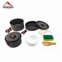 Посуда для кемпинга Widesea 2 3, походный набор для пикника, дорожная посуда, уличный кухонный набор для приготовления пищи, походная посуда, столовые приборы
